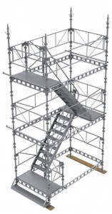 Aluhak aluminium stair tower