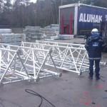 Aluminium lattice mast - 45m